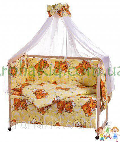 Набір дитячої постільної білизни - 9 предметів / Бортики в ліжечко малюка