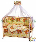 Набор детскогопостельного белья  - 9 предметов / Бортики в кроватку малыша
