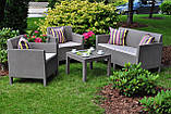 Комплект садових меблів зі штучного ротангу ORLANDO SET WITH SMALL TABLE капучіно ( Allibert ), фото 10