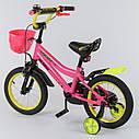 """Двухколесный детский велосипед розовый ручной тормоз звоночек корзинка Corso 14"""" деткам 3-5 лет, фото 2"""