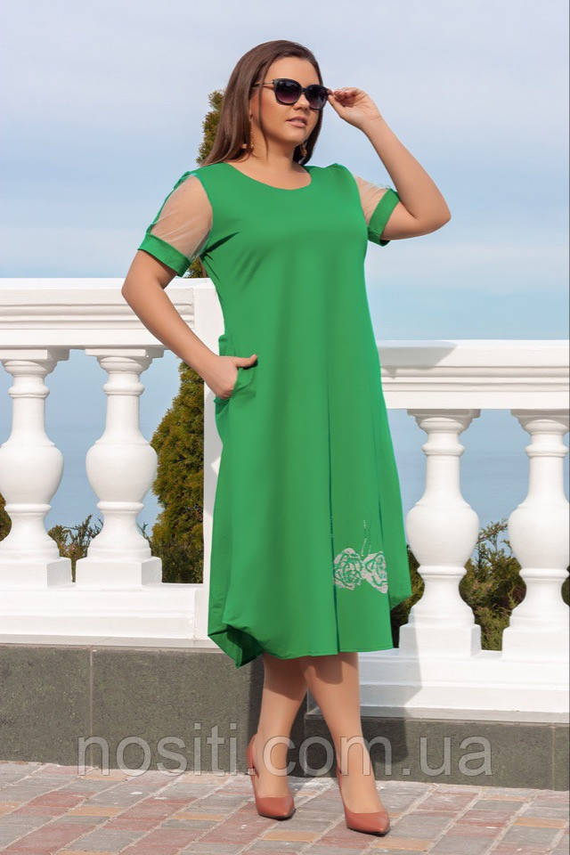 Широкое платье на пышных дам