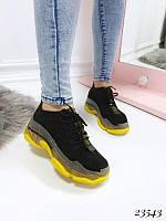 Демисезонные кроссовки Balenciaga желтая подошва