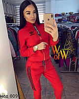 Спортивный костюм женский красный, электрик, чёрный
