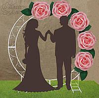 Арка свадебная круглая с оформлением Розовые Розы Аренда