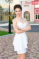 Платье женское на бретельках - Белый