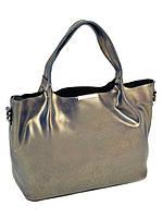 Женская кожаная сумка 10-03 8622 grey-gold, фото 1