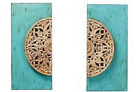 Панно NIWT Set 2 Wood Painting Turquoise A165M80 Laforma -- Наличие в Киеве купить Скидки Наличные, с НДС