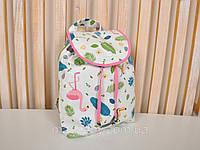 """Летний маленький рюкзак """"Туканы"""" для детей из текстиля (р. 25х25х8 см) ТМ MagBaby 101214, фото 1"""