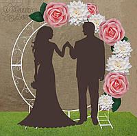 Арка круглая Свадебная с оформлением Розовые Розы Аренда
