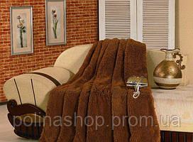 """Хутряне покривало з довгим ворсом """"Ведмедик коричневий"""" 160х210 полуторна"""
