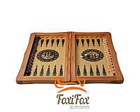 Нарды шахматы 3 в 1 деревянные 46 см