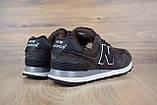 Чоловічі кросівки в стилі New Balance 574 коричневі, фото 2