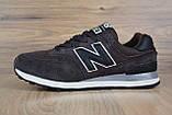 Чоловічі кросівки в стилі New Balance 574 коричневі, фото 4