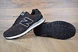 Чоловічі кросівки в стилі New Balance 574 коричневі, фото 5