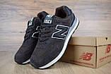 Чоловічі кросівки в стилі New Balance 574 коричневі, фото 6