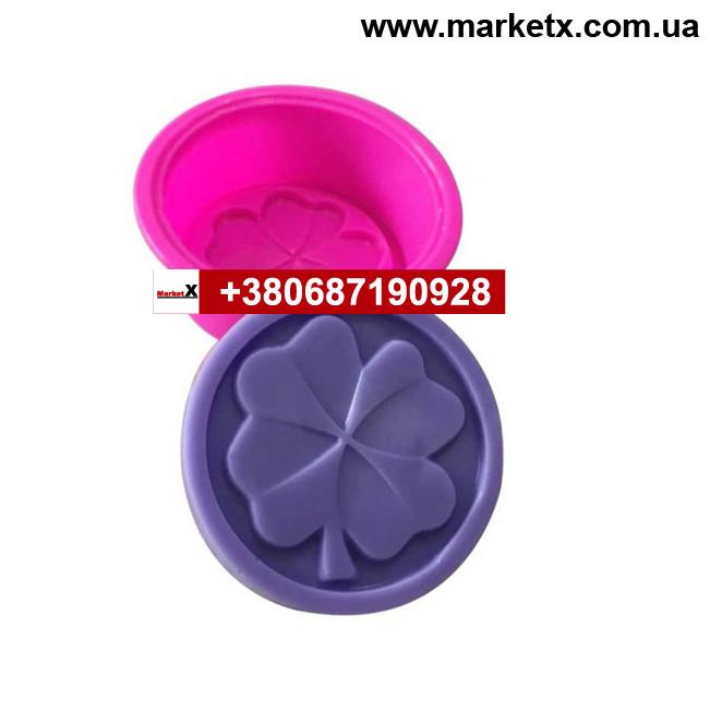 Пищевая силиконовая форма круглая с листком