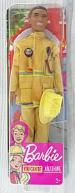 """Кукла Кен Серия """"Ты можешь быть..."""" Пожарник Кен (FXP01) FXP05 Mattel"""