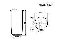 Пневмоподушка , пневморессора переднего моста DAF 95XF XF95 ДАФ 889MK2 1276846 W01M588679