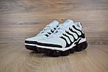 Мужские кроссовки в стиле Nike Air VaporMax Plus, белые с черным, фото 3