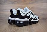 Мужские кроссовки в стиле Nike Air VaporMax Plus, белые с черным, фото 2