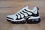 Мужские кроссовки в стиле Nike Air VaporMax Plus, белые с черным, фото 5