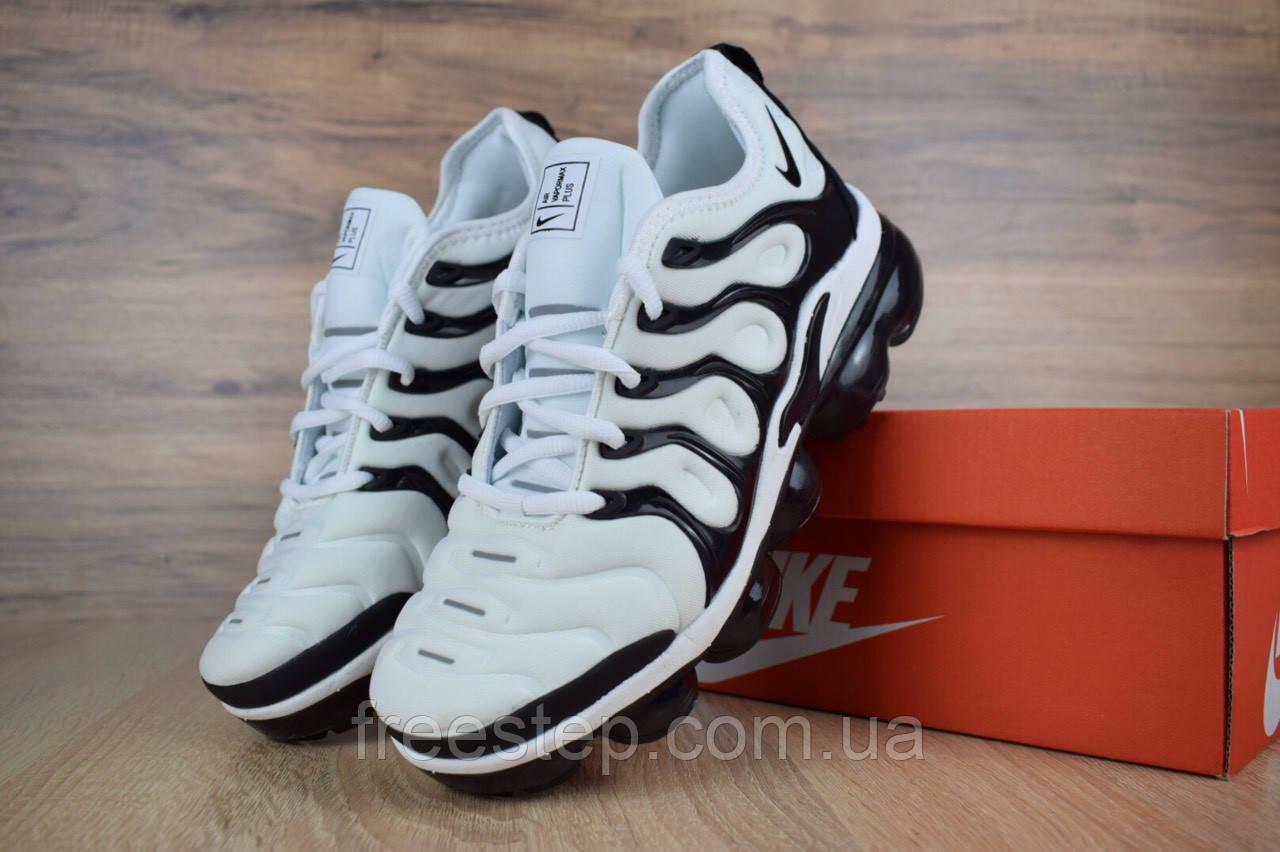 Мужские кроссовки в стиле Nike Air VaporMax Plus, белые с черным