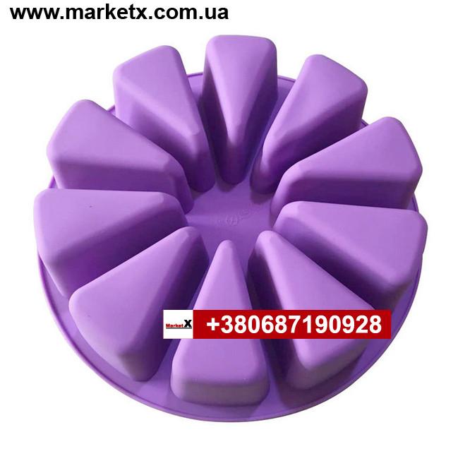 Пищевая силиконовая форма кусочек тортика