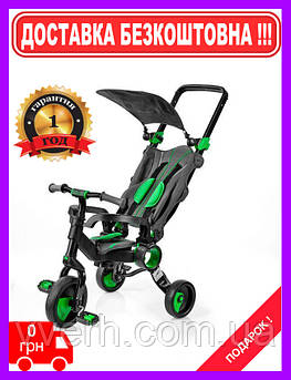 Детский трехколесный велосипед 2в1 Galileo Strollcycle Black Зеленый GB-1002-G