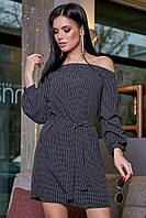 ✔️ Платье женское с открытыми плечами 42-48 размера черное, фото 1