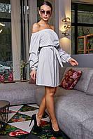 ✔️ Платье женское с открытыми плечами 42-48 размера белое, фото 1