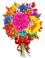 """Вырубка средняя увеличенная """"Букет цветов"""" 47х35"""