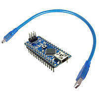 Arduino Nano V3.0 ATmega328 FT232 + USB Cable, фото 1