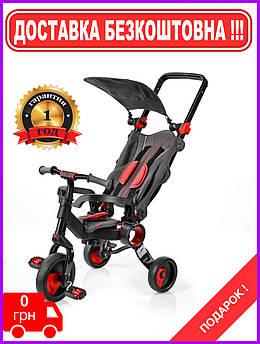 Детский трехколесный велосипед 2в1 Galileo Strollcycle Black Красный GB-1002-R