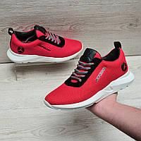 Красные  кроссовки в стиле Jordan