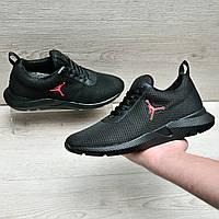 Черные кроссовки в стиле Jordan, фото 1