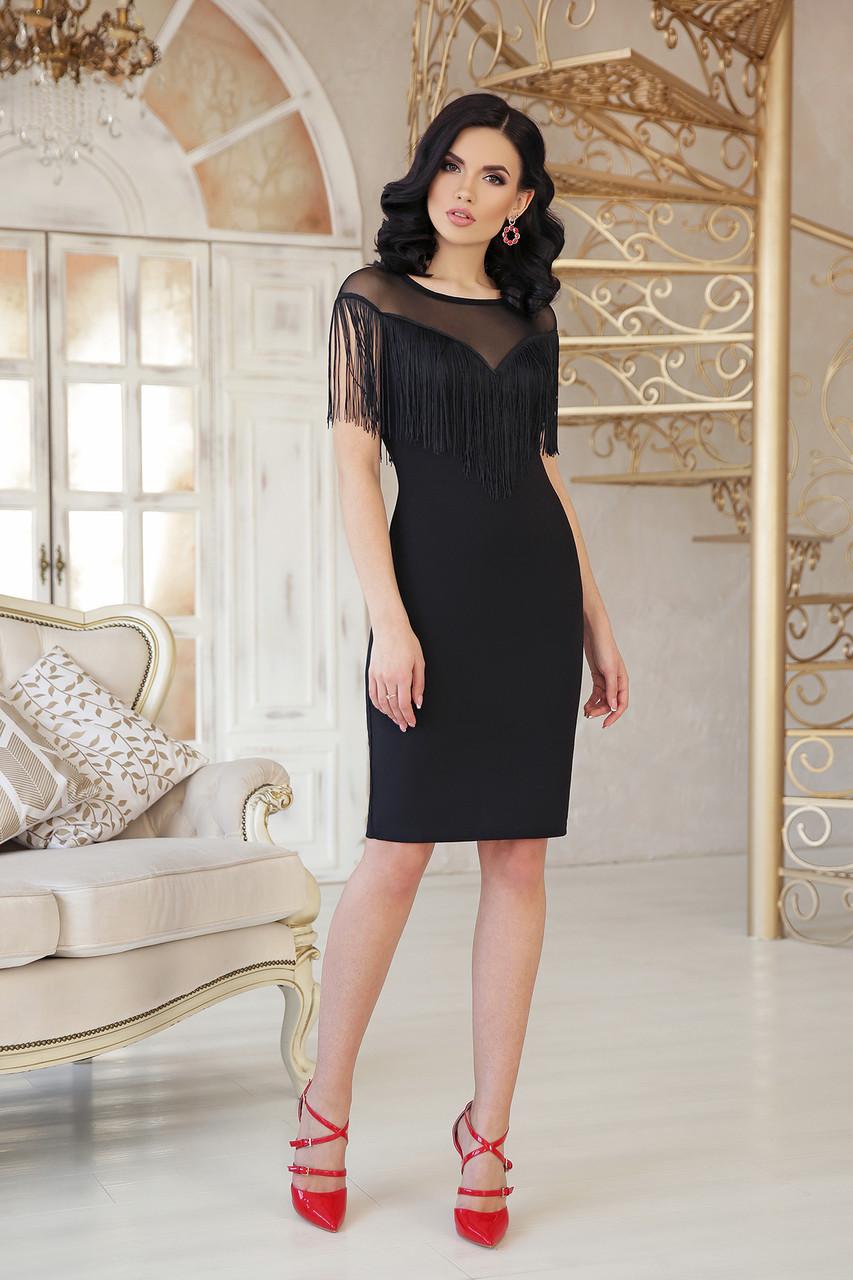 Женское платье до колен с бахромой платье Шерон 2 б/р