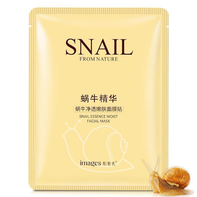 Тканевая маска для лица с муцином улитки Images Snail Essence Moist Facial Mask (30г)
