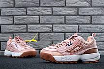 Кроссовки женские Fila Disruptor 2 (розовые) Top replic, фото 2