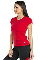 Жіноча спортивна футболка червоного  коляру