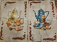 """Набір вафельних рушників """"Кава"""", фото 1"""