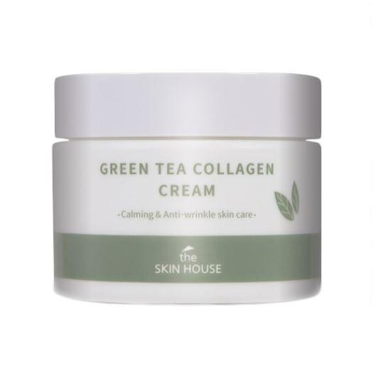 The Skin House Green Tea Collagen Cream Успокаивающий крем на основе коллагена и экстракта зелёного чая