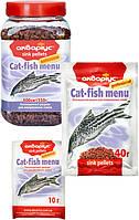 """Корм для риб Акваріус """"Меню для сомів"""", потопаючі пелети (пакет 40 г)"""