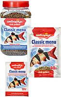 """Корм для рыб Аквариус """"Классическое меню"""", тонущие пеллеты (пакет 40 г)"""