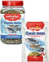 """Корм для рыб Аквариус """"Классическое меню"""", чипсы (банка 150 г)"""