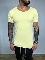 😜 Мужская футболка удлиненная желтый