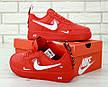 Кроссовки мужские Nike Air Force 1 '07 (красные) Top replic, фото 2