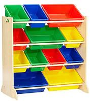 KidKraft Стеллаж органайзер с ящиками для хранения игрушек 16774 Sort It and Store It