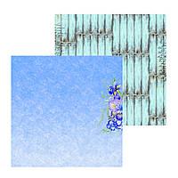 1 Лист двусторонней бумаги для скрапбукинга, коллекция Violet & iris 30х30 см.