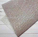 Сетка с глиттером на синтетической основе, 20 х 30 см, цвет т.серебро с цветным глиттером, фото 2