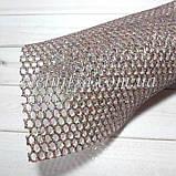 Сетка с глиттером на синтетической основе, 20 х 30 см, цвет т.серебро с цветным глиттером, фото 3